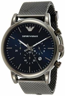 Emporio Armani Herren Chronograph Quarz Uhr mit Edelstahl Armband AR1979 - 1