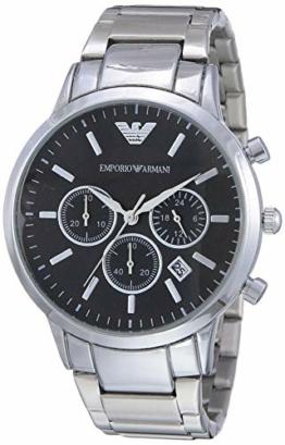 Emporio Armani Herren Chronograph Quarz Uhr mit Edelstahl Armband AR2434 - 1