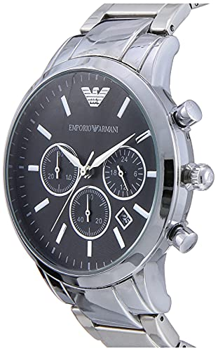 Emporio Armani Herren Chronograph Quarz Uhr mit Edelstahl Armband AR2434 - 2