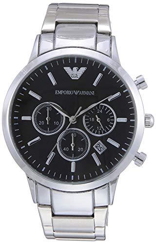 Emporio Armani Herren Chronograph Quarz Uhr mit Edelstahl Armband AR2434 - 3