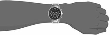 Emporio Armani Herren Chronograph Quarz Uhr mit Edelstahl Armband AR2434 - 5