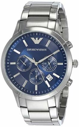 Emporio Armani Herren Chronograph Quarz Uhr mit Edelstahl Armband AR2448 - 1