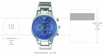 Emporio Armani Herren Chronograph Quarz Uhr mit Edelstahl Armband AR2448 - 4