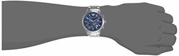 Emporio Armani Herren Chronograph Quarz Uhr mit Edelstahl Armband AR2448 - 5
