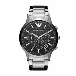 Emporio Armani Herren Chronograph Quarz Uhr mit Edelstahl Armband AR2460 - 1