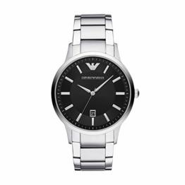 Emporio Armani Herren-Uhren schwarz/silber, AR2457 - 1