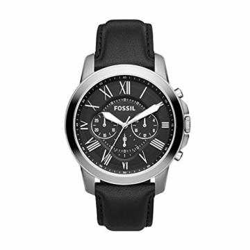 Fossil Chronograph Herren Uhr mit Leder Armband FS4812IE - 1