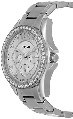 Fossil Damen Analog Quarz Uhr mit Edelstahl Armband ES3202 - 2