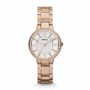 Fossil Damen Analog Quarz Uhr mit Edelstahl Armband ES3284 - 1