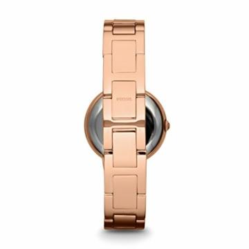 Fossil Damen Analog Quarz Uhr mit Edelstahl Armband ES3284 - 2