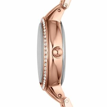 Fossil Damen Analog Quarz Uhr mit Edelstahl Armband ES3284 - 3