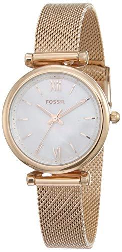 Fossil Damen Analog Quarz Uhr mit Edelstahl Armband ES4433 - 1
