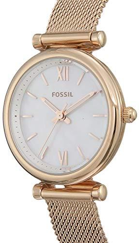 Fossil Damen Analog Quarz Uhr mit Edelstahl Armband ES4433 - 2