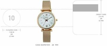 Fossil Damen Analog Quarz Uhr mit Edelstahl Armband ES4433 - 3