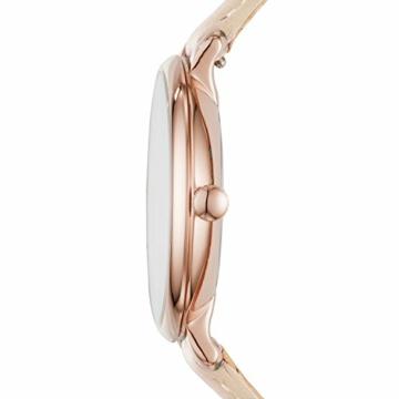 Fossil Damen Analog Quarz Uhr mit Leder Armband ES3988 - 2