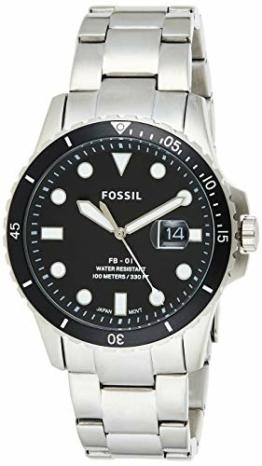 Fossil Herren Analog Quarz Uhr mit Edelstahl Armband FS5652 - 1