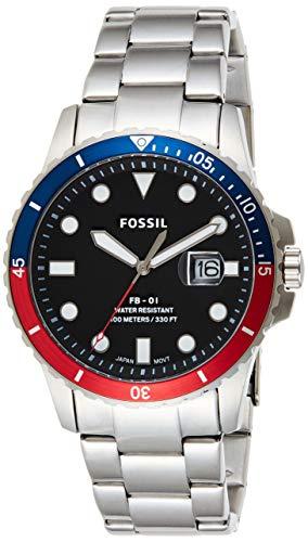 Fossil Herren Analog Quarz Uhr mit Edelstahl Armband FS5657 - 1
