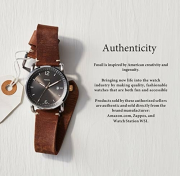 Fossil Herren Chronograph Quarz Uhr mit Leder Armband CH2891 - 10