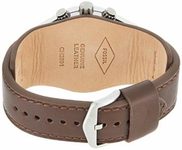 Fossil Herren Chronograph Quarz Uhr mit Leder Armband CH2891 - 2