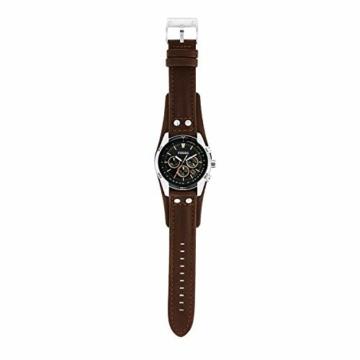 Fossil Herren Chronograph Quarz Uhr mit Leder Armband CH2891 - 5