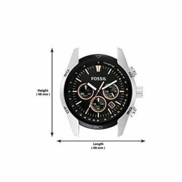 Fossil Herren Chronograph Quarz Uhr mit Leder Armband CH2891 - 6