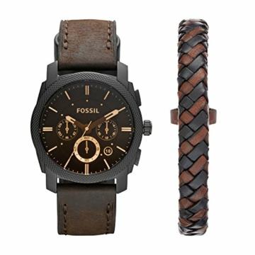 Fossil Herren Chronograph Quarz Uhr mit Leder Armband FS5251SET - 1