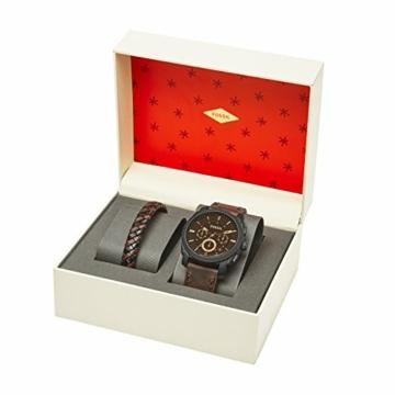 Fossil Herren Chronograph Quarz Uhr mit Leder Armband FS5251SET - 3