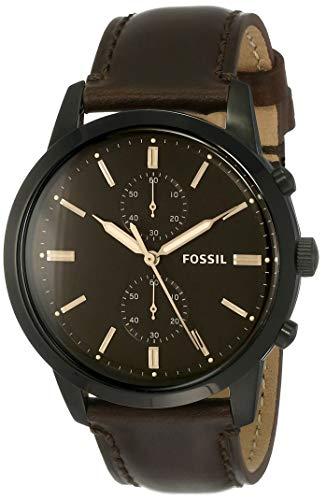 Fossil Herren Chronograph Quarz Uhr mit Leder Armband FS5437 - 1