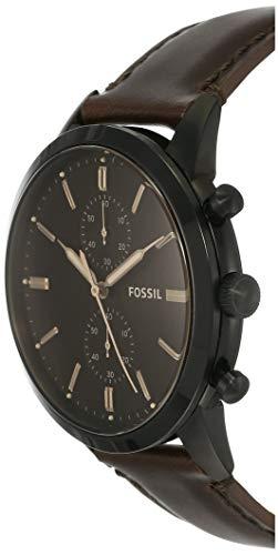Fossil Herren Chronograph Quarz Uhr mit Leder Armband FS5437 - 2