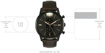 Fossil Herren Chronograph Quarz Uhr mit Leder Armband FS5437 - 3