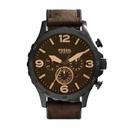 Fossil Herren Chronograph Quarz Uhr mit Leder Armband JR1487 - 1