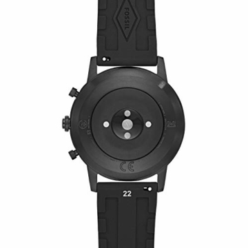 Fossil Herren Hybrid Smartwatch Collider HR Silikon Schwarz - 4