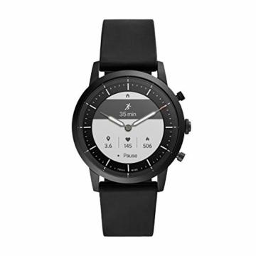 Fossil Herren Hybrid Smartwatch Collider HR Silikon Schwarz - 7
