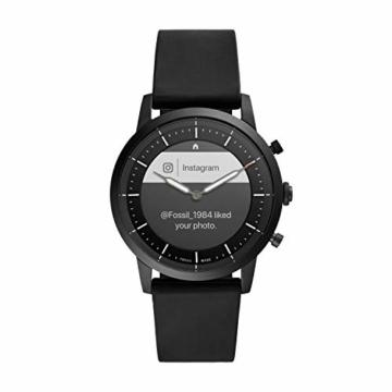 Fossil Herren Hybrid Smartwatch Collider HR Silikon Schwarz - 8