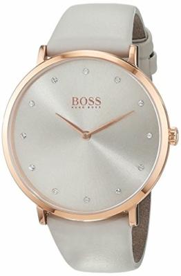 Hugo Boss Damen Datum klassisch Quarz Uhr mit Leder Armband 1502412 - 1
