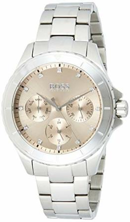 Hugo Boss Damen Multi Zifferblatt Quarz Uhr mit Edelstahl Armband 1502444 - 1