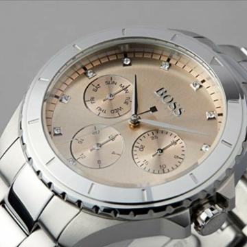 Hugo Boss Damen Multi Zifferblatt Quarz Uhr mit Edelstahl Armband 1502444 - 5