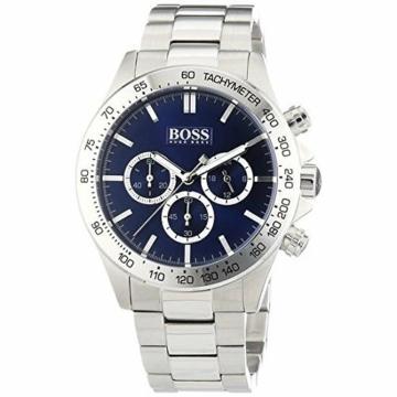 Hugo Boss Herren 1512963Silber Edelstahl Quarzuhr mit Blau Zifferblatt von Boss Hugo Boss - 1