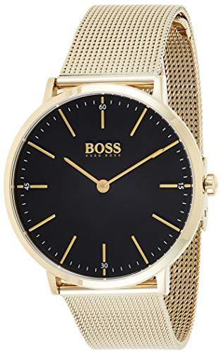Hugo Boss Herren Analog Quartz Uhr mit Edelstahl Armband 1513735 - 1