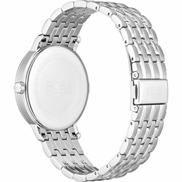 Hugo Boss Herren Analog Quarz Uhr mit Edelstahl Armband 1513641 - 4