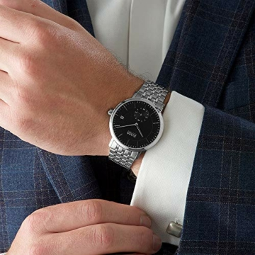 Hugo Boss Herren Analog Quarz Uhr mit Edelstahl Armband 1513641 - 5