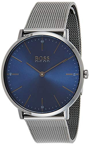 Hugo Boss Herren Analog Quarz Uhr mit Edelstahl Armband 1513734 - 1