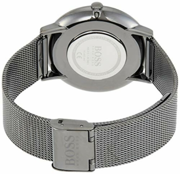 Hugo Boss Herren Analog Quarz Uhr mit Edelstahl Armband 1513734 - 2