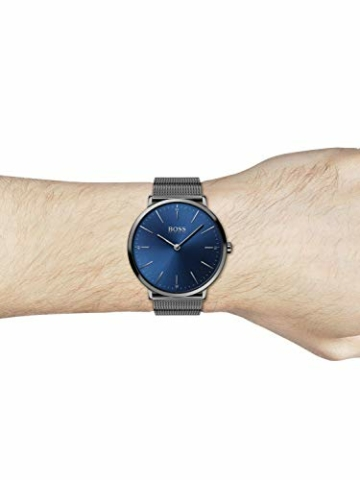 Hugo Boss Herren Analog Quarz Uhr mit Edelstahl Armband 1513734 - 4
