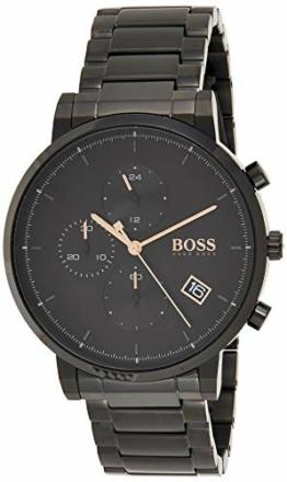 Hugo Boss Herren Analog Quarz Uhr mit Edelstahl Armband 1513780 - 1