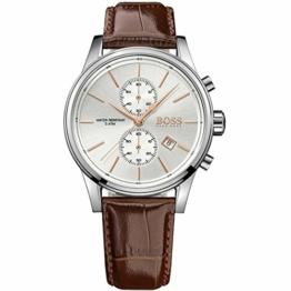 Hugo Boss Herren-Armbanduhr JET Chronograph Quarz Leder 1513280 - 1