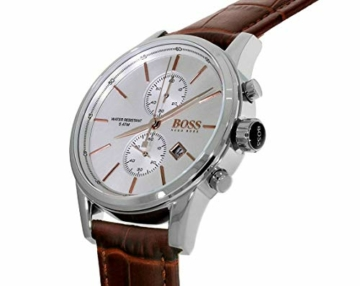 Hugo Boss Herren-Armbanduhr JET Chronograph Quarz Leder 1513280 - 4