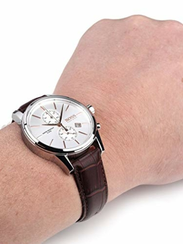 Hugo Boss Herren-Armbanduhr JET Chronograph Quarz Leder 1513280 - 5