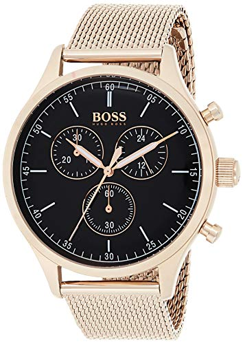 Hugo Boss Herren Chronograph Quarz Uhr mit Edelstahl Armband 1513548 - 1