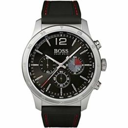 Hugo Boss Herren Chronograph Quarz Uhr mit Silikon Armband 1513525 - 1